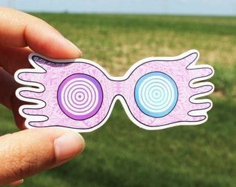 Harry Potter Sticker, Luna Lovegood Sticker, Spectrespecs, Hogwarts, Ravenclaw, Glasses, Luna Sticker, Harry Potter Fan