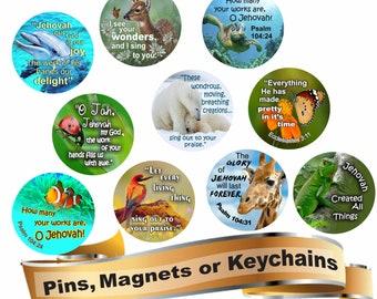 JW Convention Badge Holder/pin/magnet/JW gifts/JW | Etsy