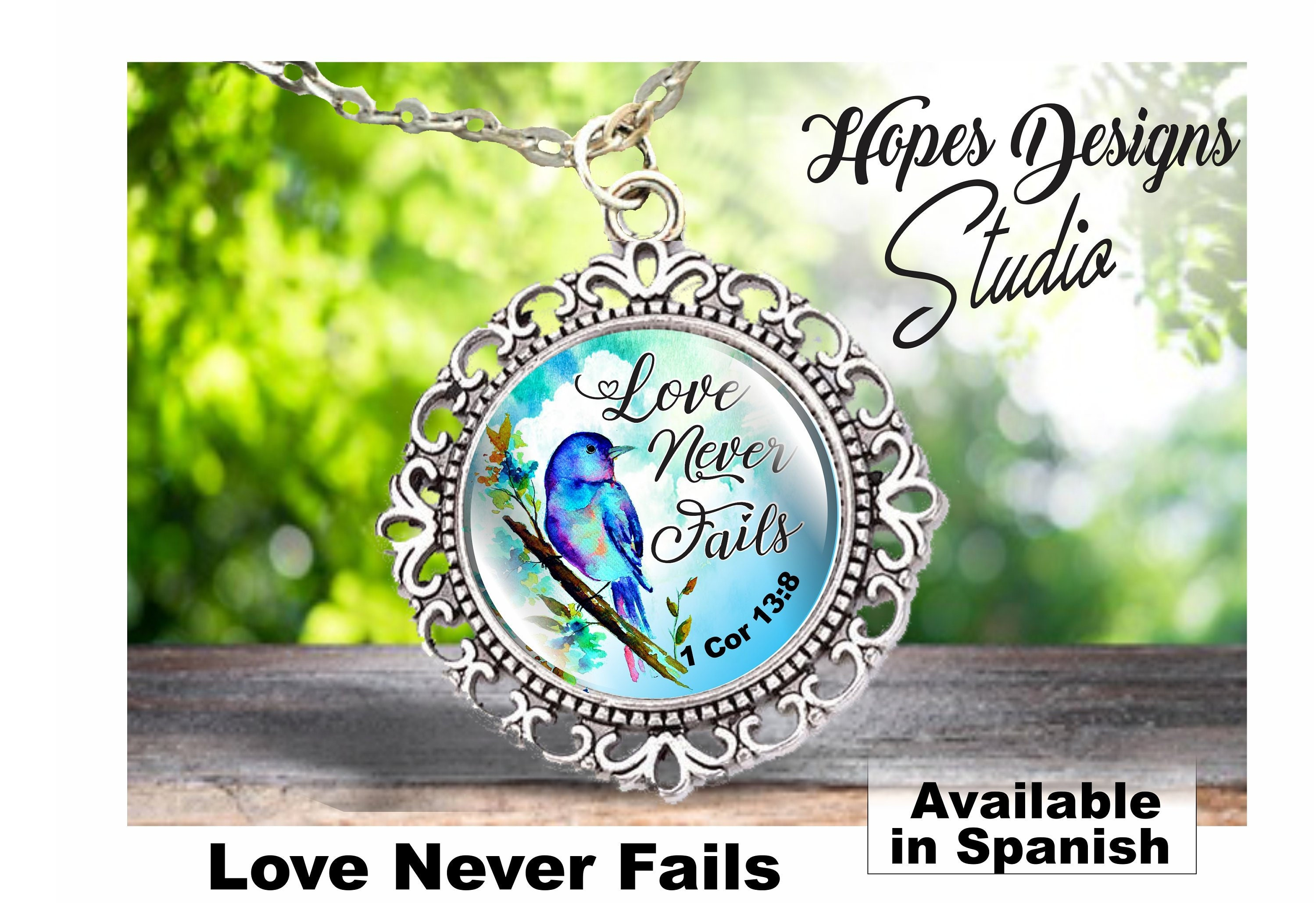 JW gifts/necklace/Love Never Fails 1Cor 13:8/jw org/convention  gift/jw org/pioneer gift/baptism gift/jw jewelry/jw stuff/best life ever
