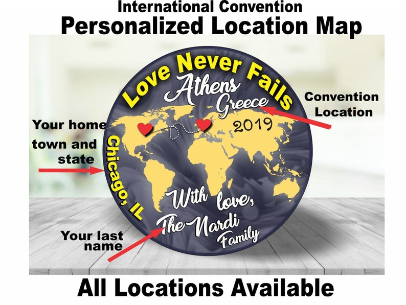 JW Gifts Love Never Fails 2019 International Convention Custom Map/1 5