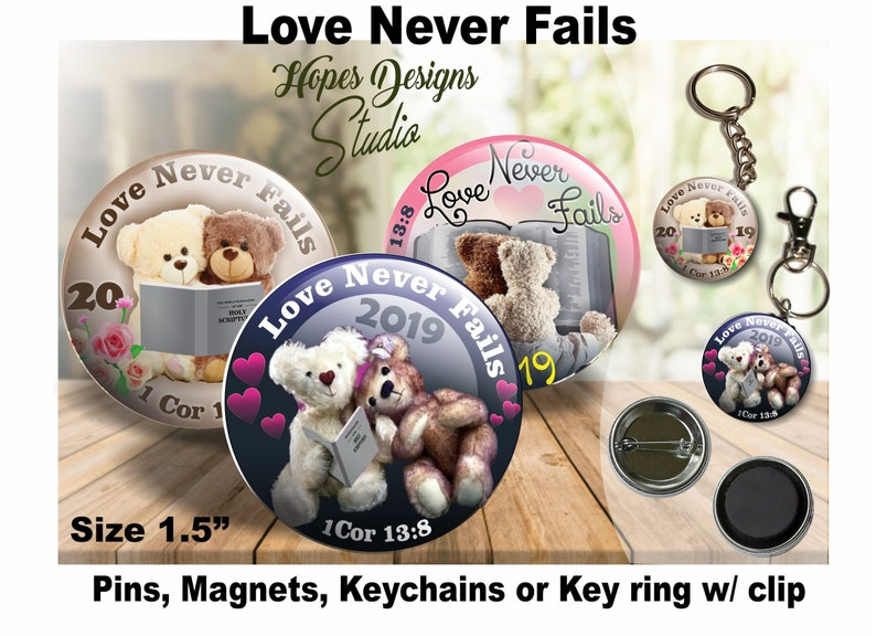 JW Gifts Love Never Fails 2019 Convention-Teddy Bears /1 5