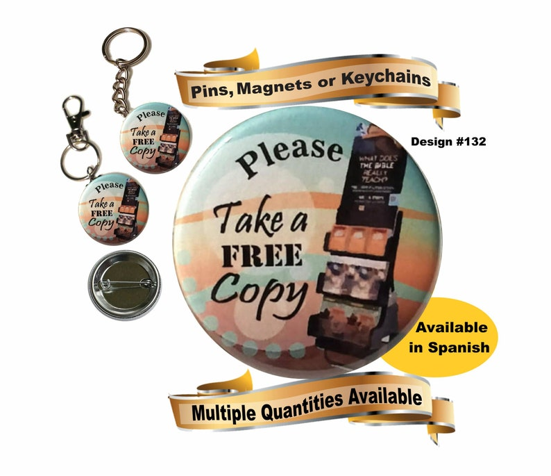 JW gifts/#132/JW cart witnessing pin,keychain, key ring & clip/JW field  ministry pins/baptism gift/pioneer gift/bag accessory/jw org