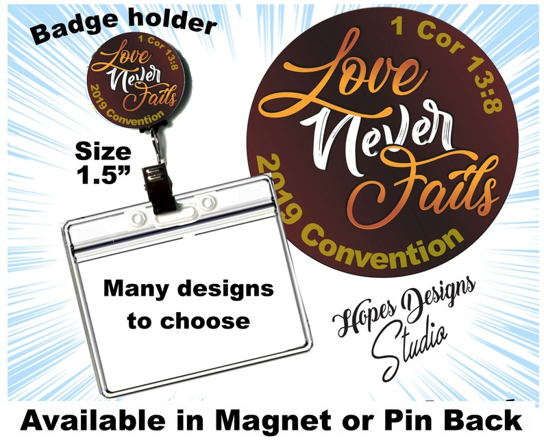 JW gifts/JW badge holder/2019 Love Never Fails convention/1Cor 13:8/baptism  gifts/jw convention gift/jw org/jw stuff