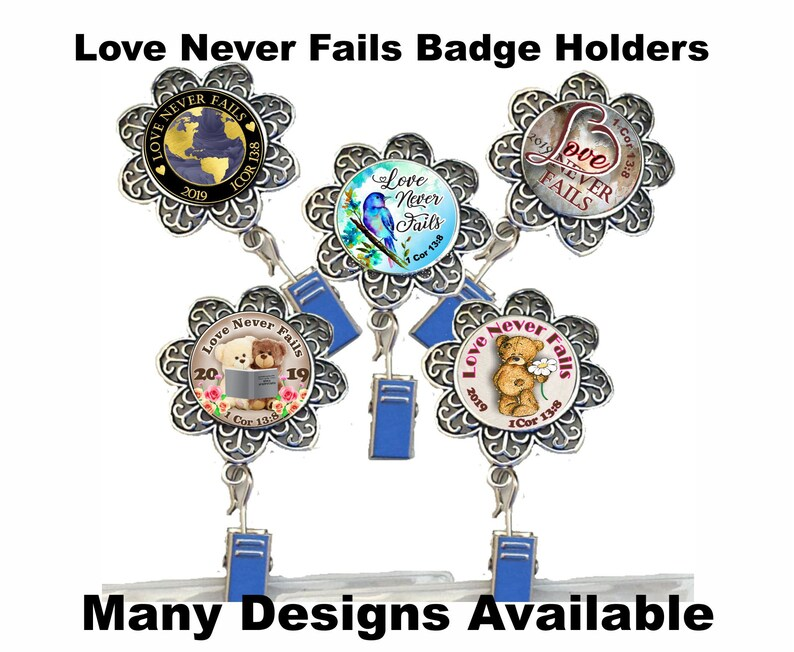 JW 2019 Convention Badge Holder/magnet or pin/JW gifts/JW org/Love Never  Fails/jw accessories/international/jw ministry