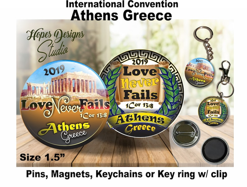 JW gifts/Love never fails 1Cor 13:8/2019 International Convention  Athens/1 5