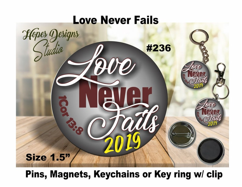 JW Gifts Love Never Fails 2019 Convention #236/1 5