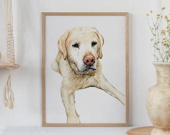 Pet Portrait | Pet Illustration | Dog Watercolour | Custom Pet Portrait | Dog Art | Dog Lover Gift | Personalised Present | Dog Memorial