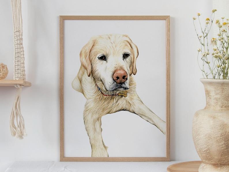 Pet Portrait  Pet Illustration  Dog Watercolour  Custom Pet image 1