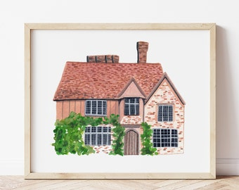 Personalised House Portrait | Custom Watercolour Painting | Bespoke Gift | First Home | Housewarming Gift | New Home | House Illustration
