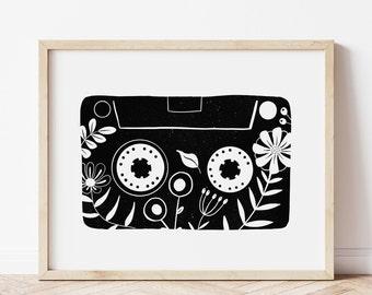Cassette Tape Print, Retro Wall Art, Music Art, Music Lover Gift, Old School, Vintage Decor, Music Poster, 80s Wall Decor, Vintage Art