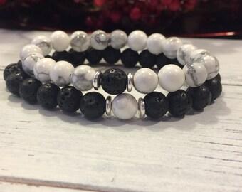 31924689455 His   Hers Bracelet Set