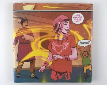 Izabel Reuniting with Hazel and Klara Saga Image Comics Square Ceramic Drink Coaster
