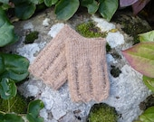 Wrist warmers, - Siv -, glass beads, wool, natural fibers, fingerless mittens, knitted bracelet