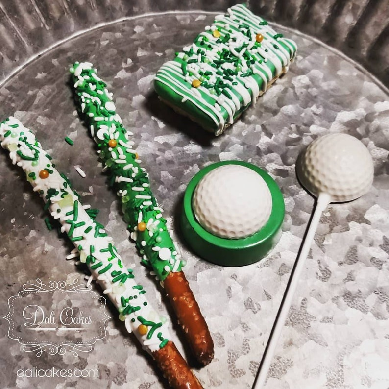 Enjoyable Golf Golfing White Sports Chocolate Covered Party Sweets Treats Pretzels Oreos Favors Marshmallows Lollipops Cookies Dessert Rkt Home Interior And Landscaping Pimpapssignezvosmurscom