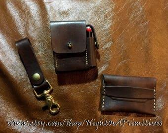 Gentleman's leather gift set