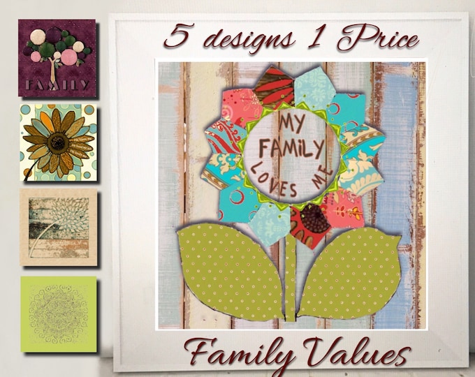 My group of designs shows love and Family Value