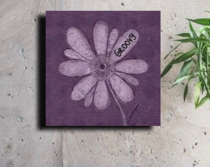 Purple Flower with a groovy Pedal ~ Digital Download