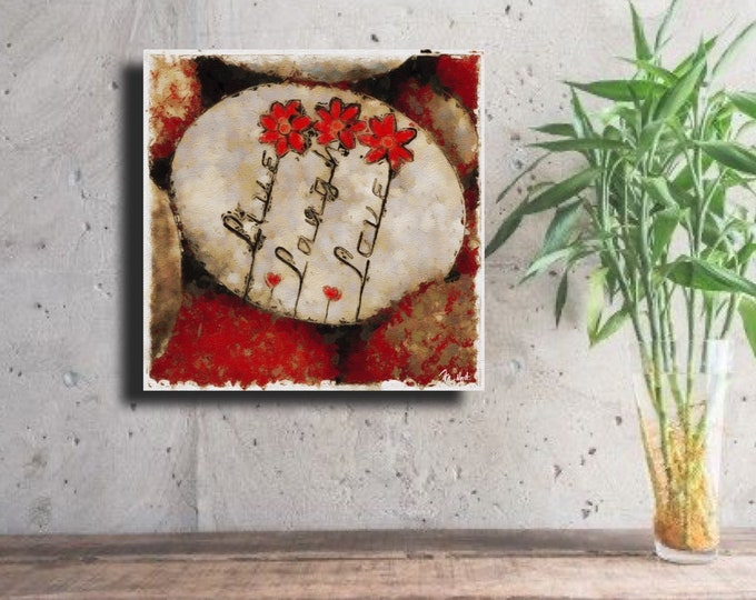 "Stone Art ""Live Laugh Love"" ~ Digital Download"