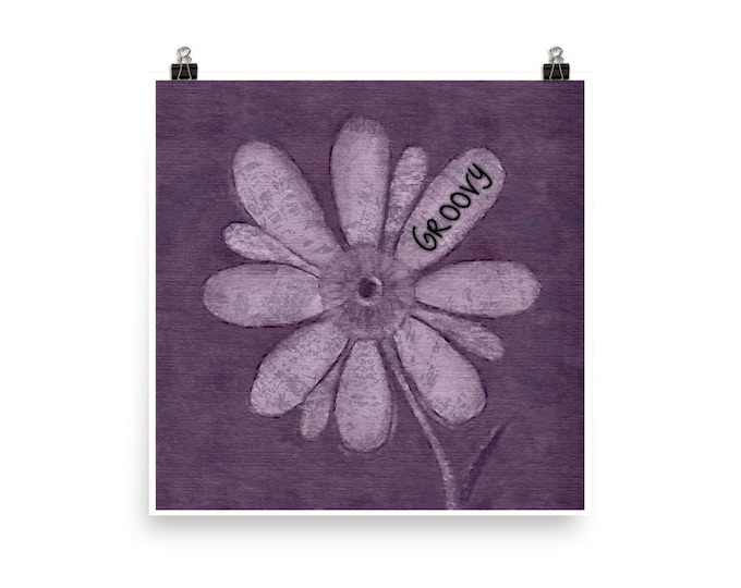 Groovy Flower Pedal Photo paper poster