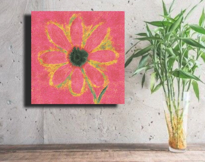 "Flower of Many Colors ""Pink on Pink Background"" ~ Digital Download"