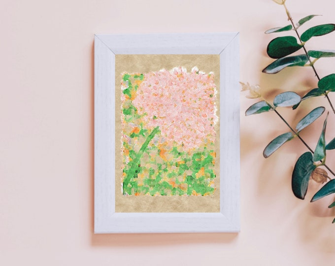 Pink Hydrangea ~ Digital Download