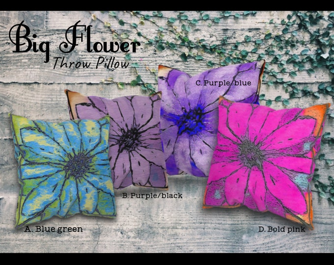 Big Flower Throw Pillow