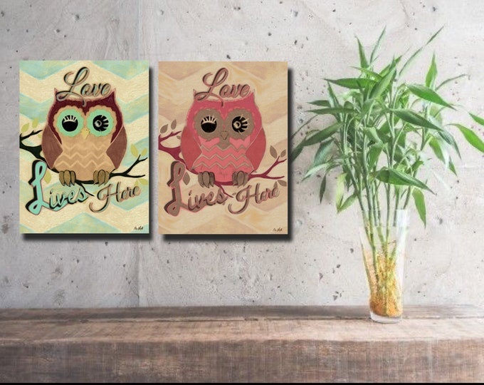 Love Lives Here Owl