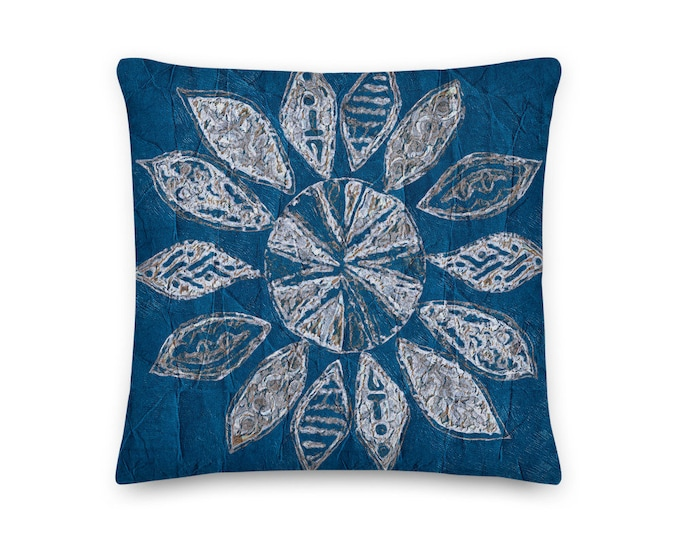 Mediterranean Abstract Star Premium Pillow