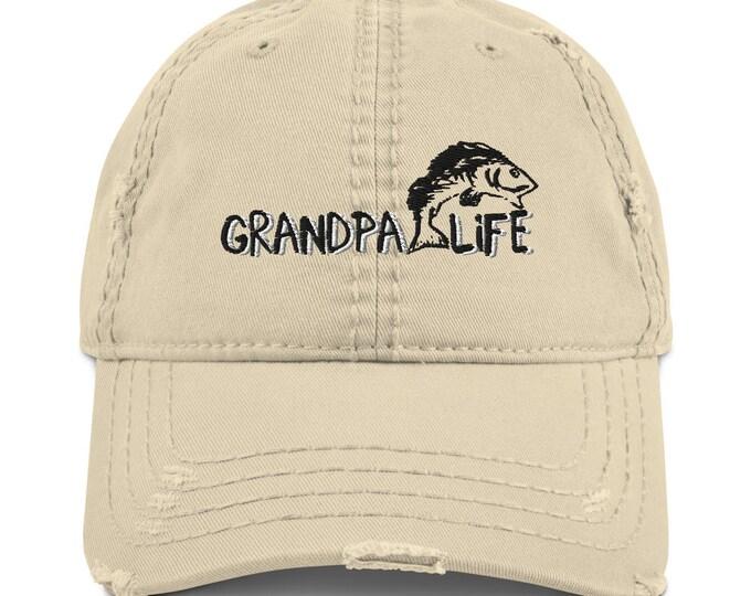 Grandpa Life Distressed Dad Hat
