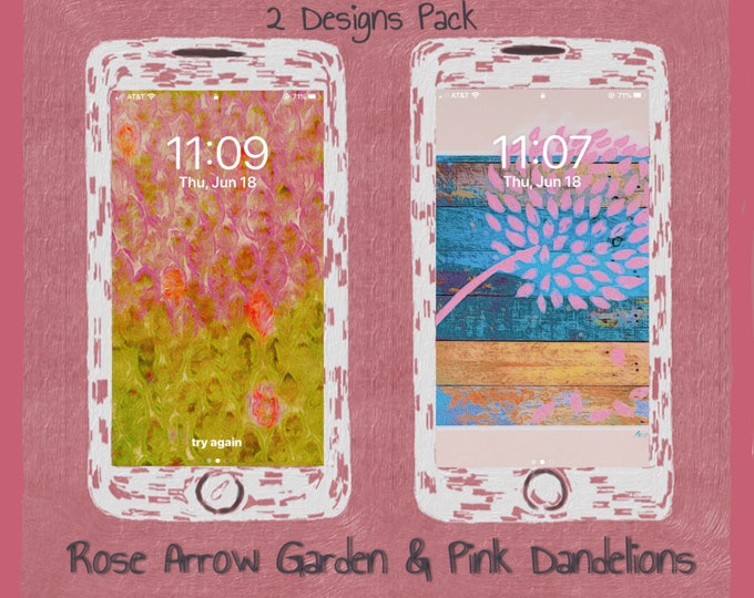 Rose Arrow Garden & Pink Dandelions ~ Digital Downloads ~ Digital Download