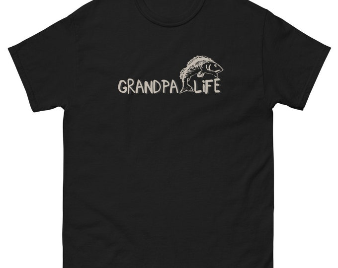 Men's heavyweight tee Grandpa Life fishing