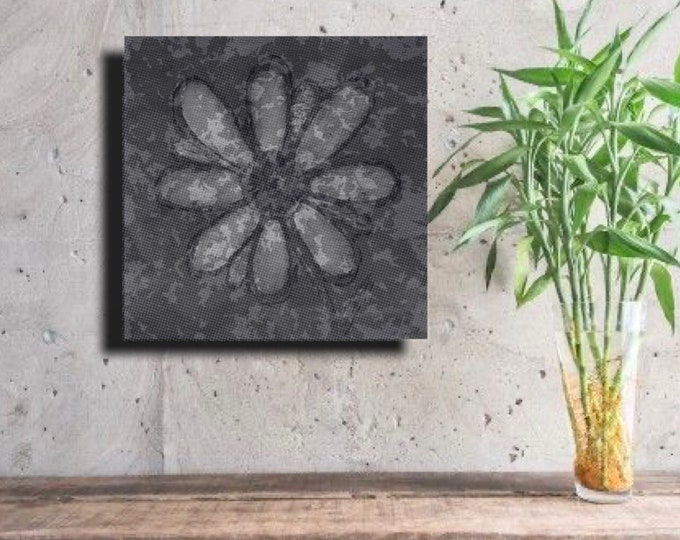 Gray Camo Flower ~ Digital Download