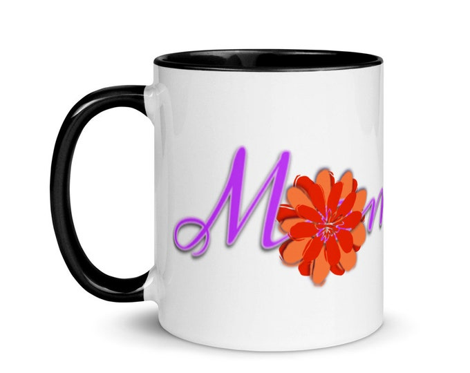Mom Life Mug with Color Inside