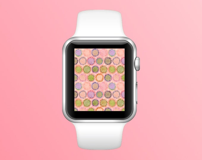 Watercolor Polka Dots in Pa ~ Digital Download
