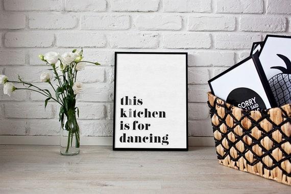 Questa cucina è per Dancing parete stampa cibo Home Decor | Etsy
