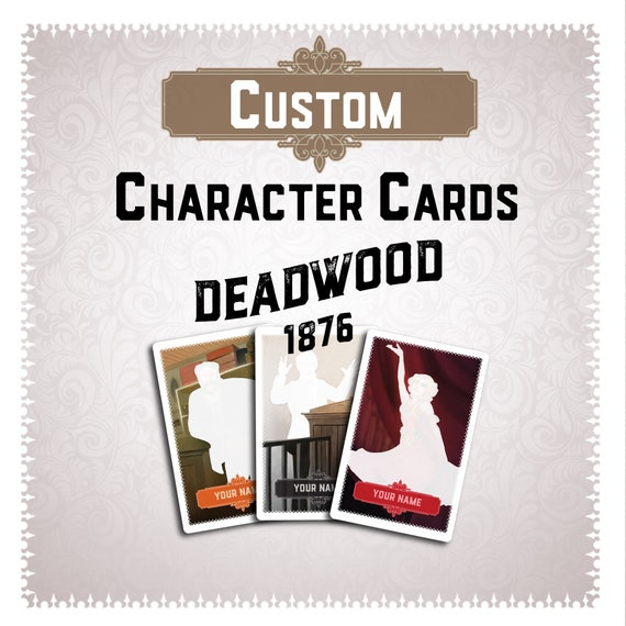 Deadwood 1876 Carte Jeu