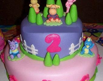Backyardigan cake toppers. Backyardigan birthday cake toppers. Backyardigan party decoration. Backyardigan birthday decoration.
