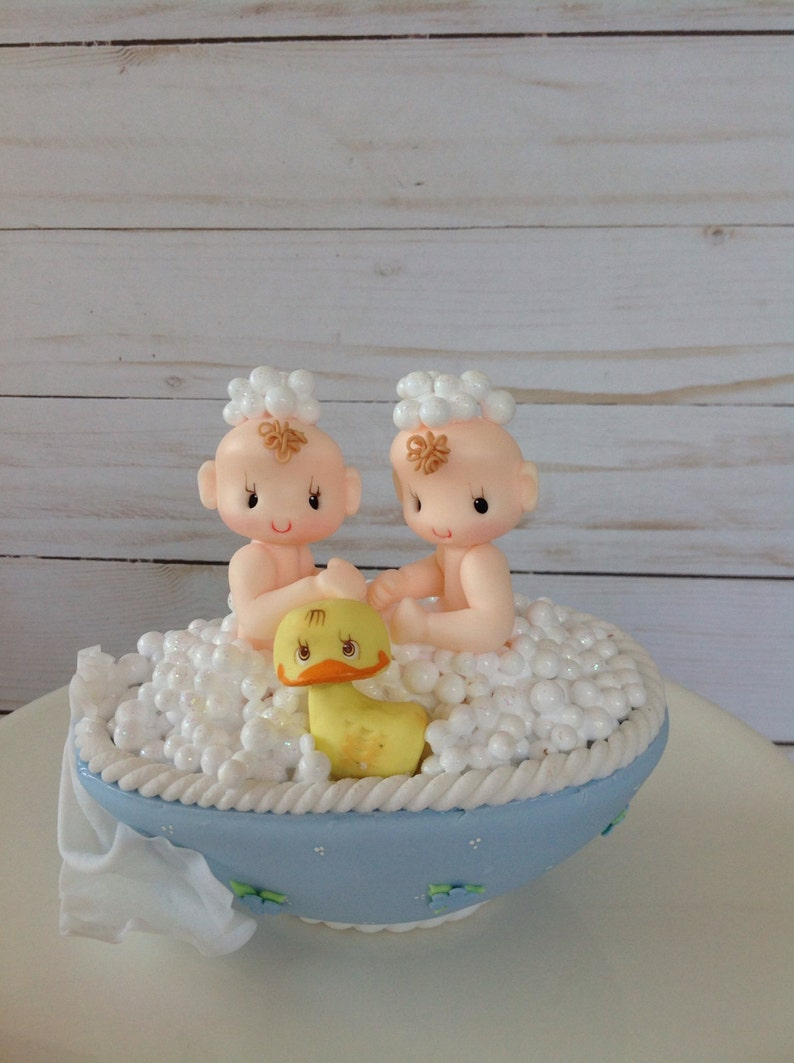 Twin Baby Shower Boy Twins Cake