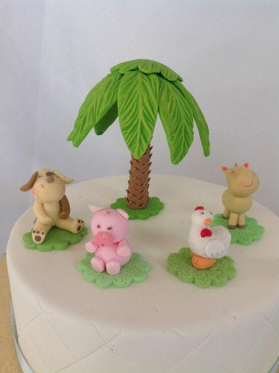 Fantastic Farm Animals Cake Toppers Farm Animals 3D Birthday Cake Etsy Funny Birthday Cards Online Alyptdamsfinfo