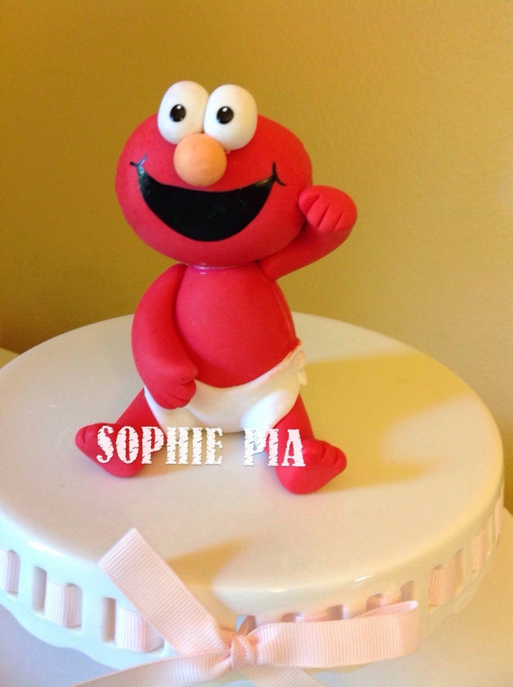 Elmo Birthday Party Elmo Party Cake Topper Elmo Birthday Etsy