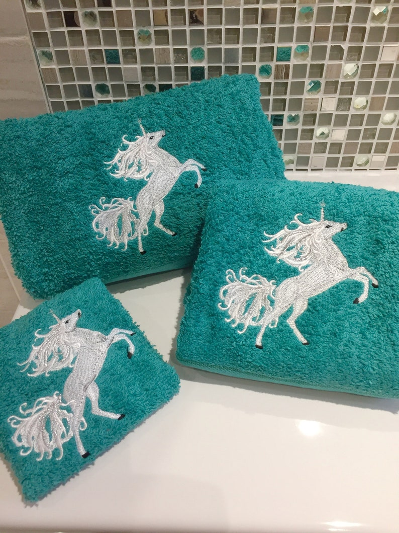 Personalised and Embroidered Luxury Towels Sparkling Thistles Scottish Thistle