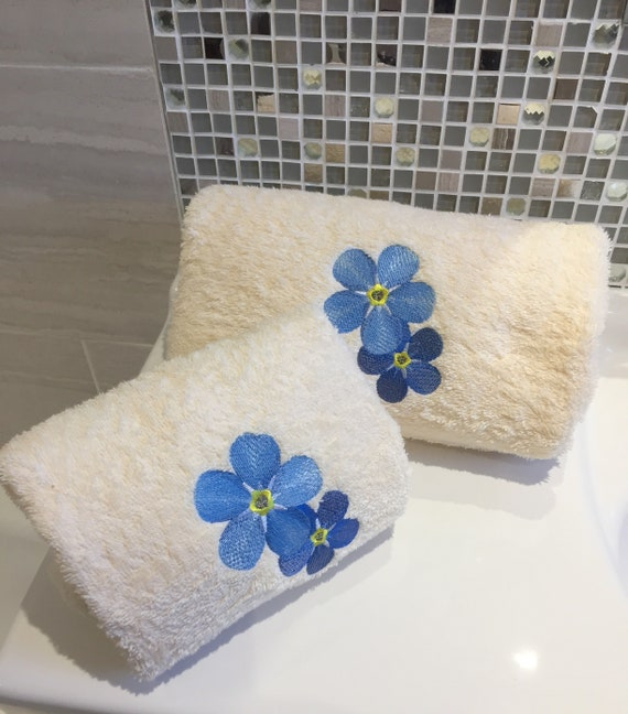 Cherry Blossoms Personalised Luxury Towels Hand /& Bath Towels Facecloths