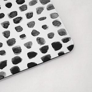 Black Dots Pet Placemat Mid Century Modern Dog Food Mat ...