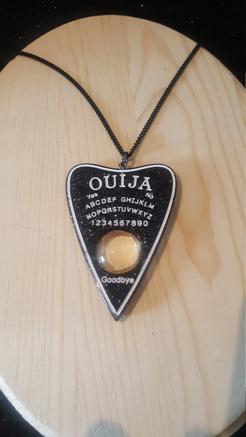 Ouija pendant with magnifying glass effect  Ouija necklace  Gothic Gothic  spiritism occultism esoteric occultism