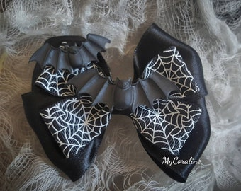 Cute bats and Spiderweb Brooche and Hairbow