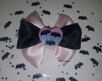 Cute bats and glitter Hairbow and Brooche