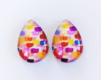 The 'Kara' Glass Statement Earring Studs