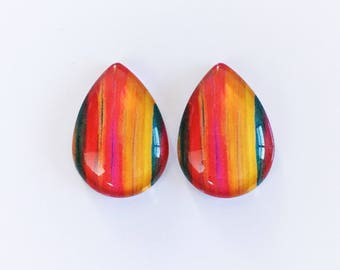 The 'Loren' Glass Statement Studs