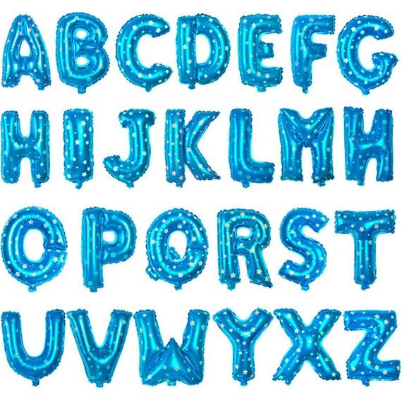 Letter Balloons Font balloonscustom letter balloon custom | Etsy