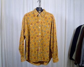 Printed corduroy shirt / L-size men
